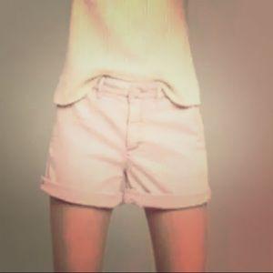 Anthropology baby pink shorts chinos